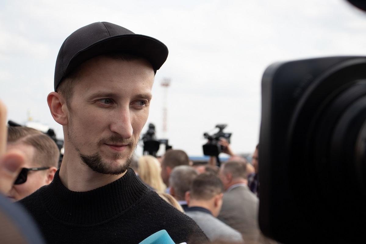 Oleksandr Koltschenko beim Gefangenenaustausch 2019